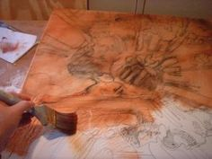 Imprimatura, or Toning the canvas.  Your first step to a masterpiece using the flemish technique.