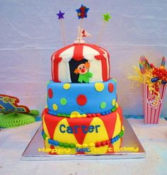 """Carnival/Circus / Birthday """"Carter's Circus 1st Birthday Bash"""" 
