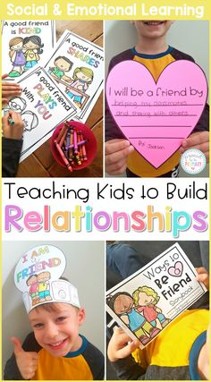 Teach children to listen, share, take turns, and build friendships with peers at school and in the classroom with these engaging social emotional learning lessons and hands-on activities. Make a hat, participate in relationship building games, and learn ways to cooperate and be a team helper. #sel #socialemotionlearning #classroommanagement #charactereducation #socialskills #friendshipskills #teachingfriendship