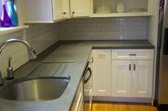 Gray Concrete Countertops Endlessconcretedesign.com Lehigh Valley/Greater  Philadelphia, Pa.