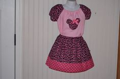 Custom Boutique Girls Pink Leopard Print Twirly by alottocollect, $34.95