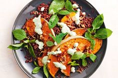 Lemongrass paste adds zing to the pumpkin in this healthy vegetarian main.