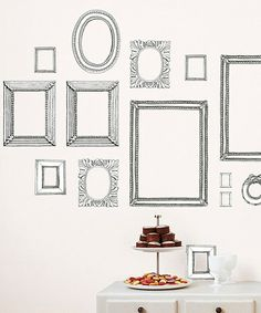 Take a look at this Gray Frame Wall Decal Set by Black, White & Gray: Textiles & Décor on @zulily today!