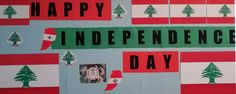 Independence Day Decoration, Happy Independence, Boards, Lebanon, Planks