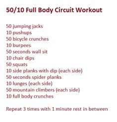 Full Body Circuit! - doing this tonight since I won't get a chance to go to the gym! +10 mins of jump rope