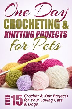 One Day Crocheting & Knitting Projects for Pets: Over 15 Crochet & Knit Projects for Your Loving Cats & Dogs (Crocheting projects, one day crochet, knitting, ... for beginners, crochet pets, patterns) by Elizabeth Taylor http://www.amazon.com/dp/B00TPUET6W/ref=cm_sw_r_pi_dp_fSylwb1QH85ZP