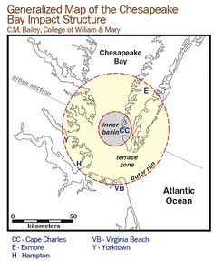 Generalized Map of the Chesapeake Bay Impact Structure
