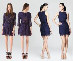 Navy lace dresses <3