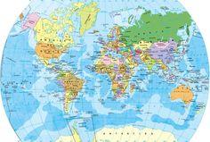 Mapa del mundo - Mapamundi del globo terráqueo Wallpaper Earth, World Map Wallpaper, 8k Wallpaper, Free Printable World Map, Latitude And Longitude Map, World Geography Map, World Map Outline, World Political Map, Indian Flag Wallpaper