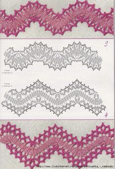 Create these beautiful lace crochet edges! More Patterns Like This!