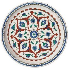 Persian Painting 16th Century | An Iznik pottery dish. Ottoman Turkey, circa 1590. Photo Christie's ...