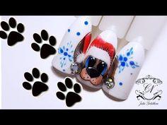 Рисуем СИМВОЛ 2018 года/Новогодний пёсик на ноготках /Пришли мои любимые гель лаки - YouTube