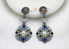 Tutorial Gloriae Earrings by bybeejang on Etsy