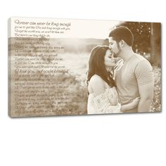 Marry Me - first dane LOVE this engagement photo canvas art words over photo