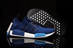 Unisex Adidas Originals NMD Runner Pk Blue Black Running Trainers - NMD Runner