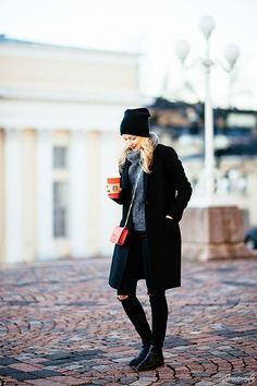 Outfit with Black Beanie
