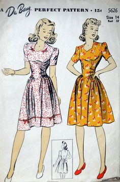 I wish this would come back in style! Swing Dance Dress! Vintage Pattern