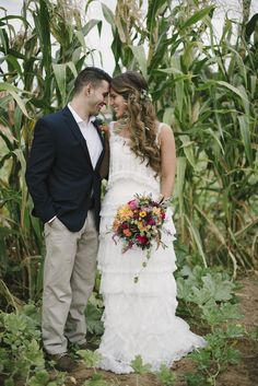 Love this lovely corn field photo-shoot for a fall wedding   Pumpkin Patch Wedding Inspiration for Fall