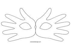 Maschera di Carnevale con sagome mani