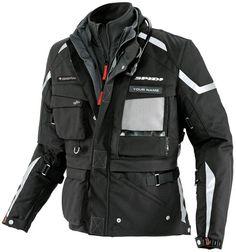Spidi Ergo 365 Pro Expedition wasserdichte Textiljacke Schwarz - FC-Moto.de