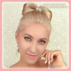 Hair bow updo - want to try this!
