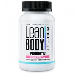 Try Jamie Eason's strawberry flavored Probiotics today. Incorporating these supplements into your daily routine not only supports your digestive and immune health, but also aides in weight reduction. It's built to maintain and improve your body's natural balance of good bacteria. With great flavor and undeniable health benefits, what more could you ask for?