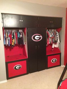 My Boys Closet Had Real Ugly White Sliding Doors That Were An Eyesore Boys Closetthemed Roomssliding
