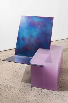'EQUALS' easy chair by Sabine Marcelis, Cast polished resin, tempered waxed steel, x x in. Furniture Ads, Design Furniture, Chair Design, Office Waiting Room Chairs, Living Room Chairs, Dining Chairs, Dining Room, Lounge Chairs, Cafe Chairs