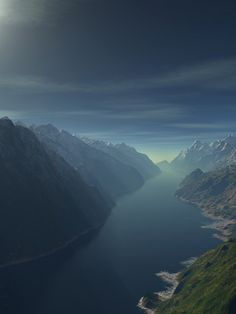 I just love the quality of the fjord in this one. So foreboding and beautiful.