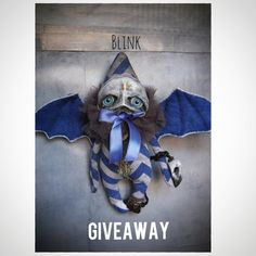 Grimmblees – One of a kind Hand Crafted Little Gothic Monsters Giveaway Time on my  www.instagran.com/grimmblees  account Creature 3d, Curious Creatures, Uk Shop, Jute, Art Dolls, Batman, Valentines, Superhero, Giveaway