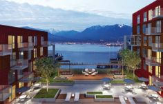 Fabulous landscape planning at Strathcona Village (Wall Centre 900 Hastings) - a new development in Vancouver. Landscape Plans, Landscape Design, Cheap Web Hosting, New Construction, British Columbia, Vancouver, Mansions, House Styles, Centre