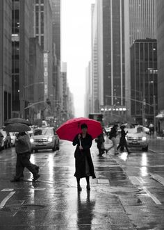 Erik S. | Soply  // Rainy Day, Pink Umbrella