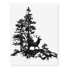 deer in forest tattoo - Google zoeken