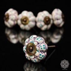 Gałka Ceramiczna Kwiat Indie