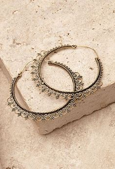Filigree Trim Hoop Earrings | Forever 21 | #f21accessorize