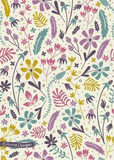 Florals by Anna Deegan, via Behance