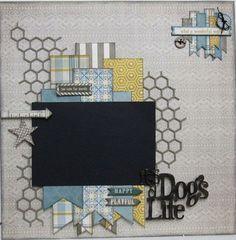 Scrapbooking Journal, Dog Scrapbook Layouts, Album Photo Scrapbooking, Album Scrapbook, Baby Boy Scrapbook, Scrapbook Templates, Scrapbook Designs, Scrapbook Sketches, Scrapbook Paper Crafts