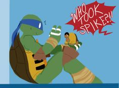 Leo's gonna die for taking Spike. And then die again for dressing him up like Captain Ryan... XP