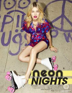 "Megan Irwin featured in the Fashion Journal editorial ""Neon Nights"" from November 2013 #lovefmd"