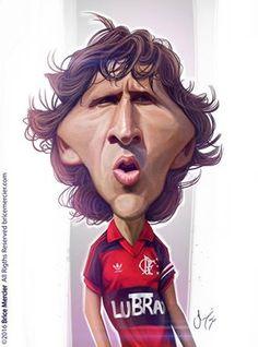 Caricature de Zico par Brice Mercier