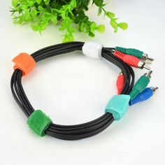12pcs/set CC-918 Nylon Computer Peripherals Organize Colorful USB Cable Tie