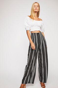 07c7c6185642 Slide View 1: Season Stripe Wide Leg Pants New Ladies Fashion, Latest  Fashion For