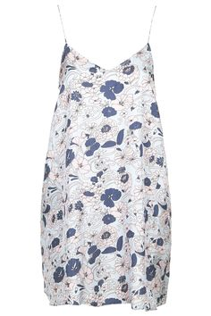 Topshop | Silk Swirly Floral Print Slip Dress by Boutique