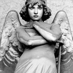 Majestic angel sculpture