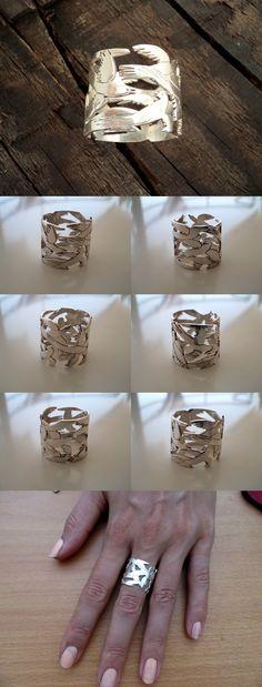 925 sterling silver unique band ring #birdsring