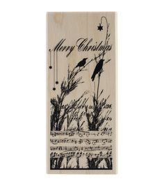 Penny Black Nature's Choir Mounted Rubber Stamp