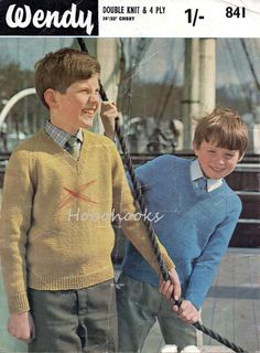 Childrens knitting pattern childrens v neck sweater v neck jumper dk sweater 4 ply sweater pattern 26-32inch dk / 4 ply pdf instant download by Minihobo on Etsy
