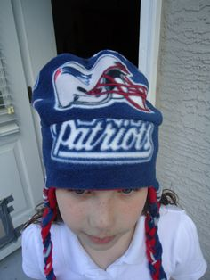 New England Patriots Fleece Hat with Ear Flaps by MapleSugarLane, $15.95