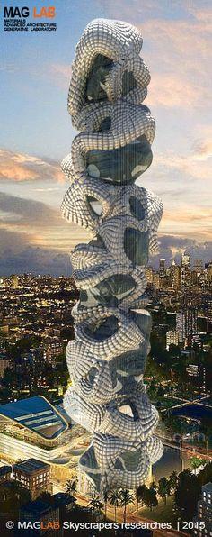 Future Skyscrapers 2015 - MAGLAB Academic Research. Digital, Parametric, Design, Biodigital Design. Art, Architecture, https://www.pinterest.com/maglab0/