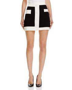 BOUTIQUE MOSCHINO Color Block Mini Skirt. #boutiquemoschino #cloth #skirt